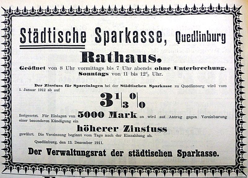 Ratskeller Quedlinburg Werbung